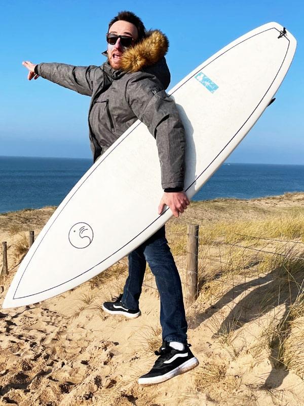 Anthony co-fondateur de Squid Surfboards
