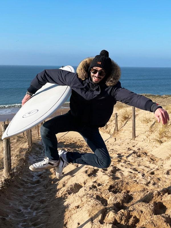 Jimmy co-fondateur de Squid Surfboards