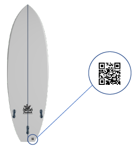 QR code planche surf